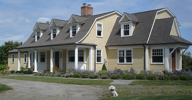 Photo of a Shingled Gambrel Addition/Renovation project in Newtown, CT